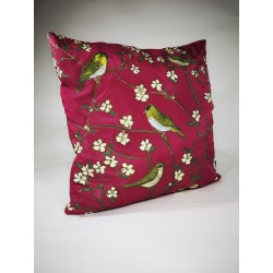 Listen in the garden silk cushion