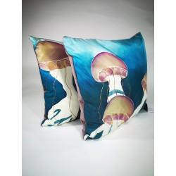 Jellyfish silk cushion