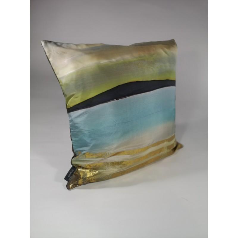Copper shoreline silk cushion