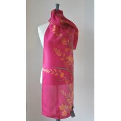 Crocosmia silk scarf