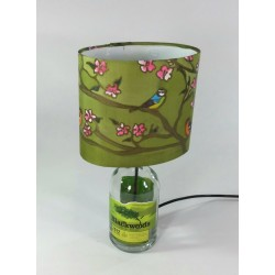 Into the garden Gin bottle table lamp and silk shade