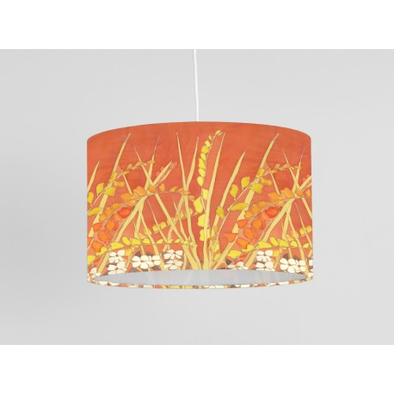 Crocosmia print ceiling shade