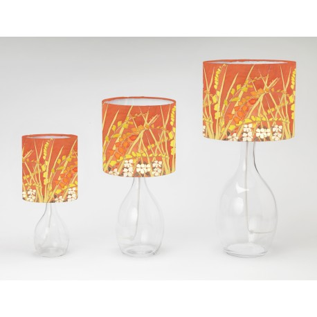 Crocosmia print tableshade