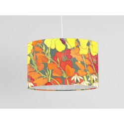 Hedgerow print ceiling shade