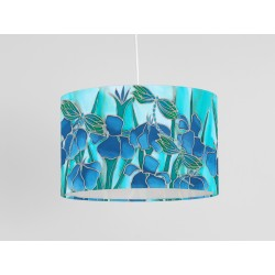 Dragonfly print ceiling shade