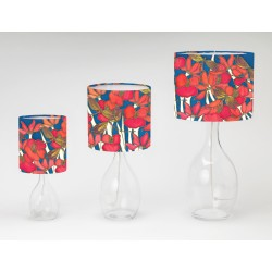 Night poppy print tableshade