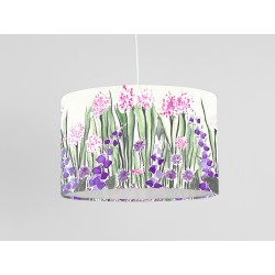Cream garden print ceiling shade