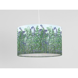 Ferns and Bluebells print ceiling shade