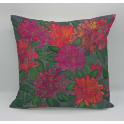 Rhododendron cotton print cushion