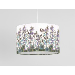 Cornflower print ceiling shade