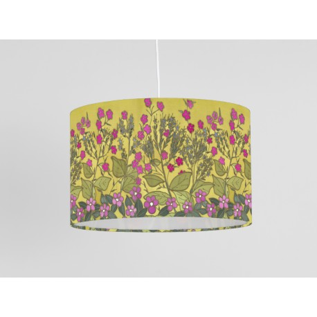 Red Campion print ceiling shade