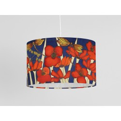 Night Poppy silk ceiling shade