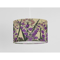 Cream Garden silk ceiling shade