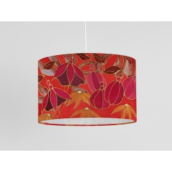 Dusky Hedgerow silk ceiling shade