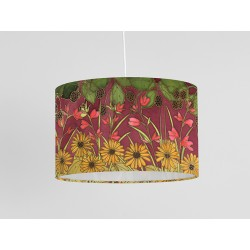 Autumn Hedgerow silk ceiling shade