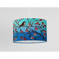 Crocosmia Silk Drum Lampshade