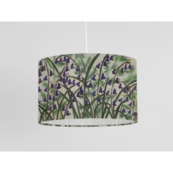 Ferns and Bluebells silk ceiling shade