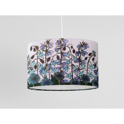 Cornflower silk ceiling shade