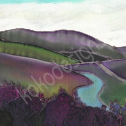 Hills of Heather greetings card