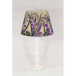 Cream Garden silk cone lampshade
