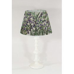 Ferns and Bluebells silk cone lampshade