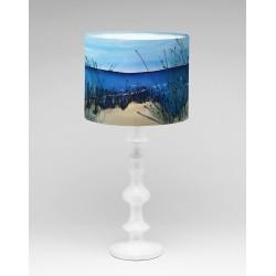 Down to the Beach silk lampshade
