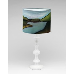 By the Loch silk lampshade