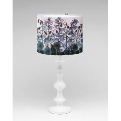 Cornflower silk lampshade