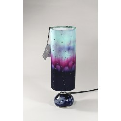 Gin bottle table lamp and silk shade
