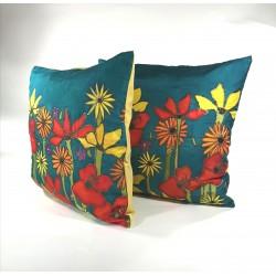 Summer Meadow silk cushion