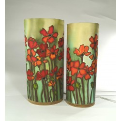 Wild poppy silk tablelight