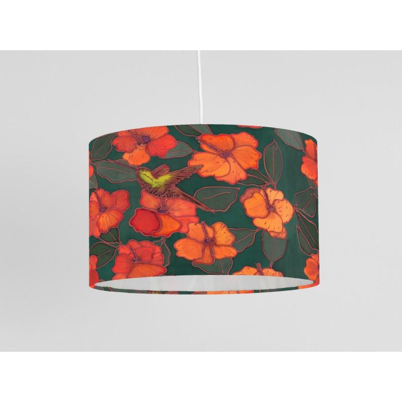 Hummingbird print ceiling shade