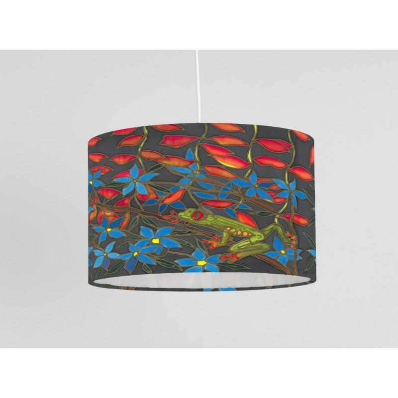 Treefrog print ceiling shade
