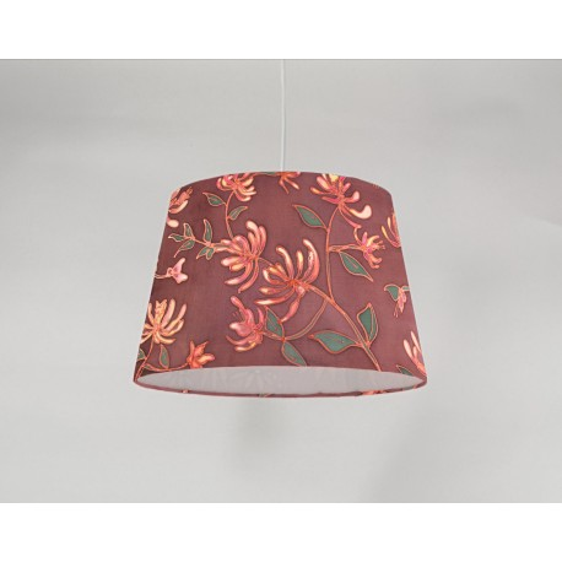 Honeysuckle silk ceiling cone shade