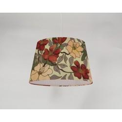 Peony Rose silk ceiling cone shade