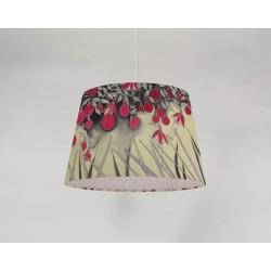 Fuchsia silk ceiling cone shade