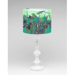 Purple Dragon silk lampshade