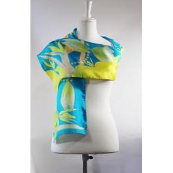 Yellow Dragonfly silk scarf