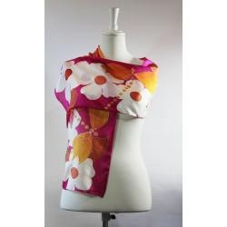 Orange Dragonfly silk scarf