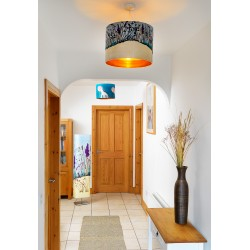 SIlk metallic ceiling shades