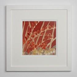 Crocosmia silk painting