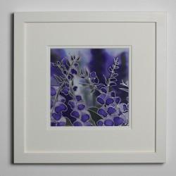 Foxglove silk painting
