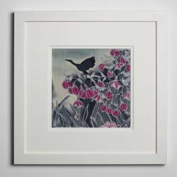 Fuchsia silk painting