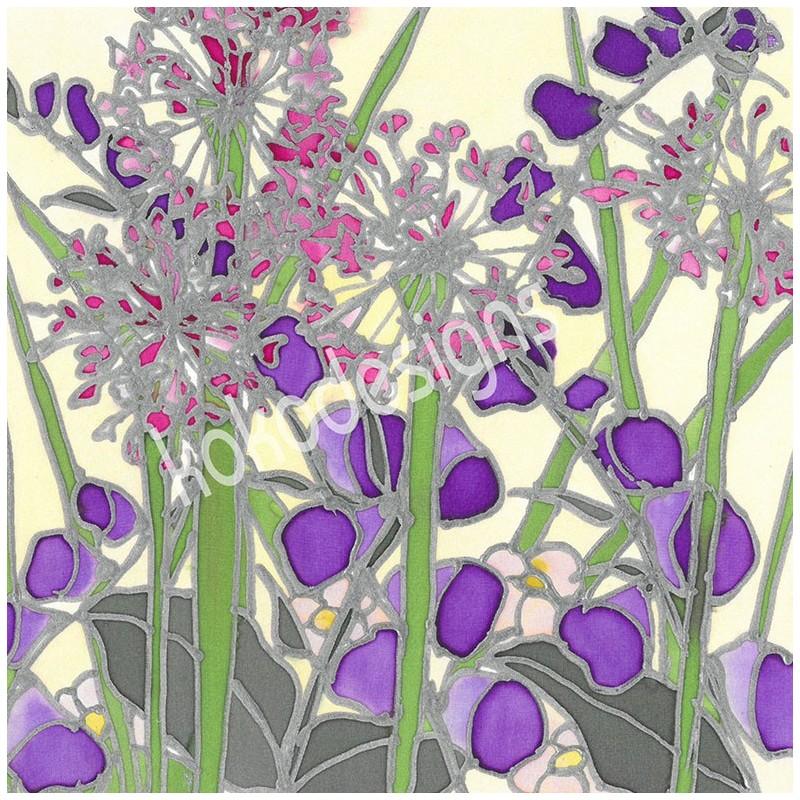 Cream garden bamboo print