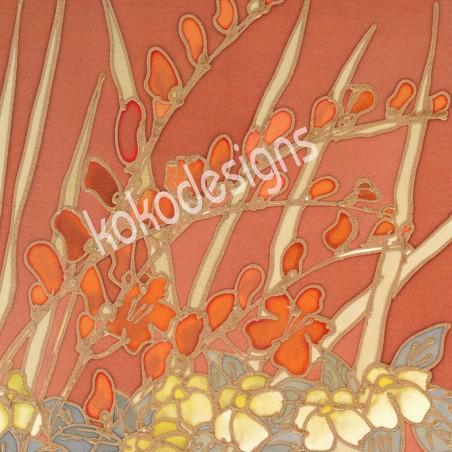 Crocosmia bamboo print