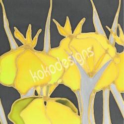Iris bamboo print