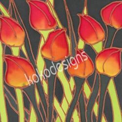 Tulip bamboo print