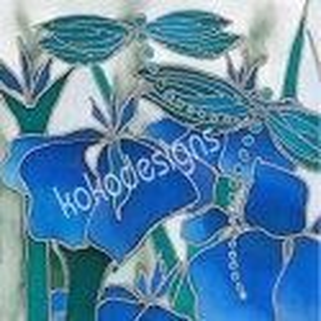 Dragonfly bamboo print