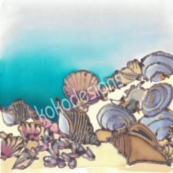 Seashells bamboo print